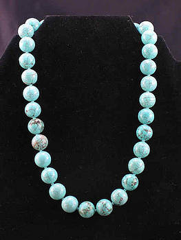 Turquoise necklace by Sarupa  Shrestha