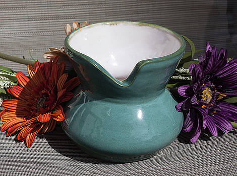 Turquoise Post Modern Vessel by Suzanne Gaff