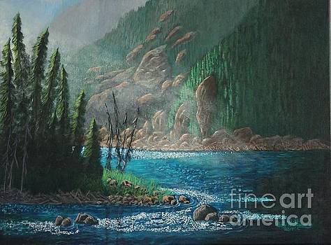 Turquoise River by Bob Williams