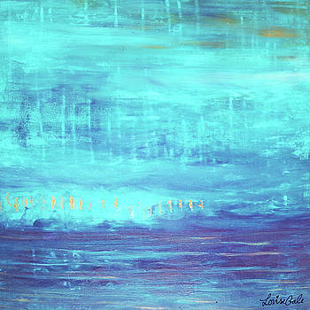 Turquoise Sky Glistens by Louise Gale