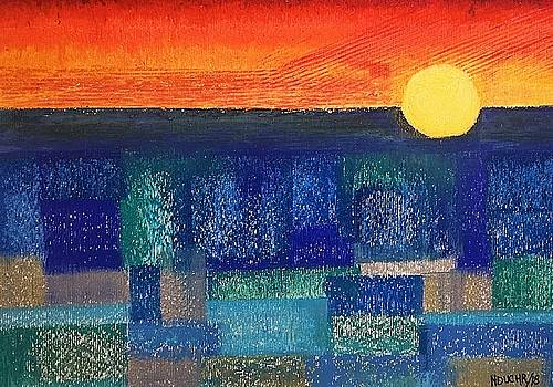 Turquoise Sunset by Norma Duch