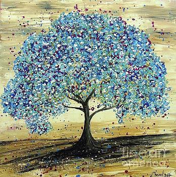 Turquoise Tree by Jessie Art
