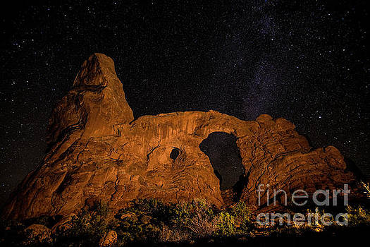 Turret Arch and the Milky Way - Utah by Gary Whitton