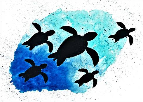 Turtle Family by Petros Illustrations