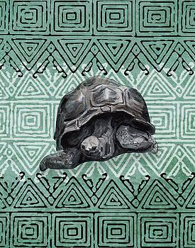 Turtle on Ornament by Masha Batkova