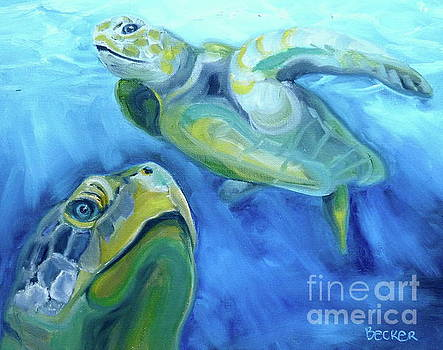 Turtle Study by Susan A Becker