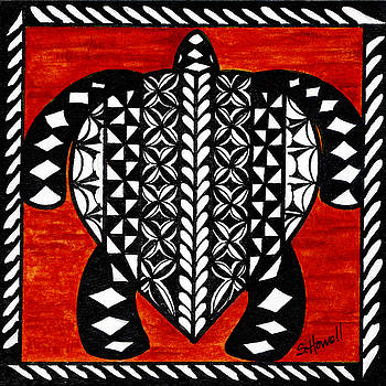 Turtle Tapa Cloth by Sandi Howell
