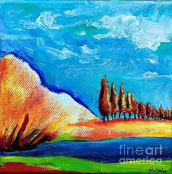 Tuscan Cypress by Elizabeth Fontaine-Barr