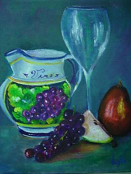 Virgilla Lammons - Tuscan Elements - Italian Wine Pitcher with Fruit