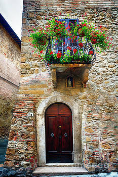 Tuscan House Entrance by George Oze