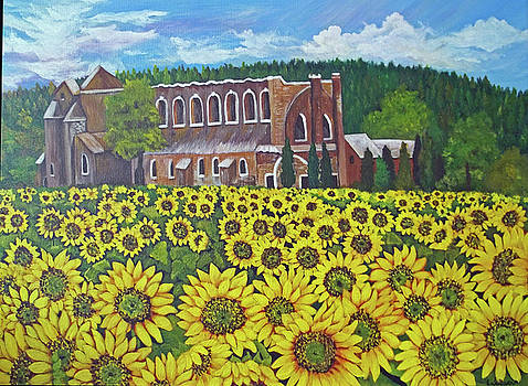 Tuscan Monastery by Norma Tolliver
