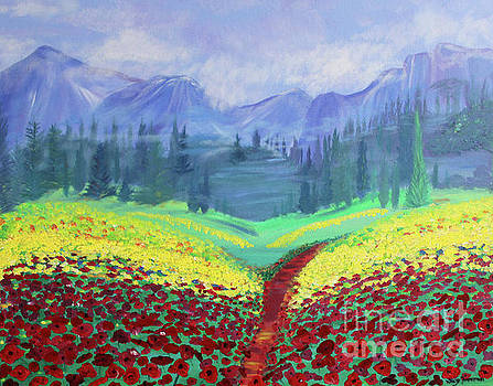 Tuscan Poppies by Stacey Zimmerman