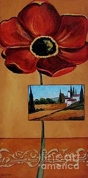 Tuscan Poppy Postcard by Italian Art