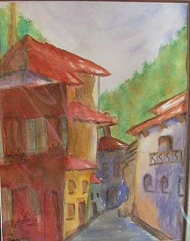 Tuscan town by Jenell Richards