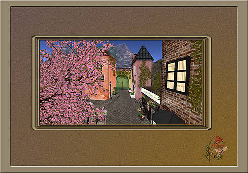 Tuscan Village In Second Life by Patricia Whitaker