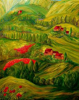 Tuscany at Dawn by Eloise Schneider