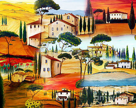 Tuscany Collage by Christine Huwer