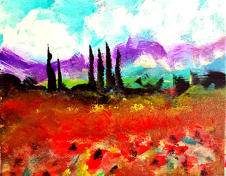 Tuscany Fields by Nikki Dalton
