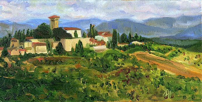 Tuscany from Castello di Verrazzano by Jennie Traill Schaeffer