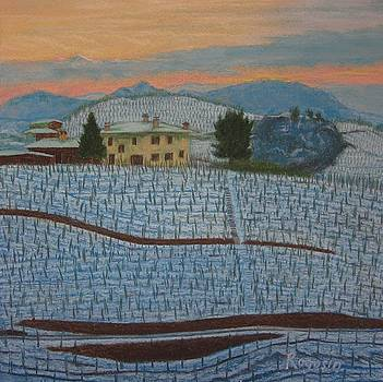 Tuscany in Blue A Blanket of Snow by Harvey Rogosin