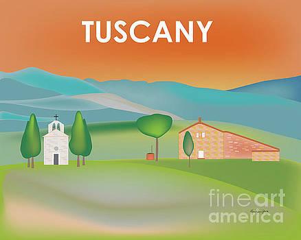 Tuscany, Italy Horizontal Scene by Karen Young