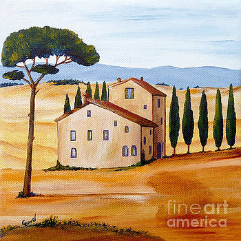 Tuscany modern 1 by Christine Huwer