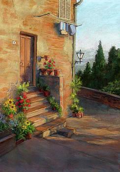 Tuscany Morning Light by Vikki Bouffard