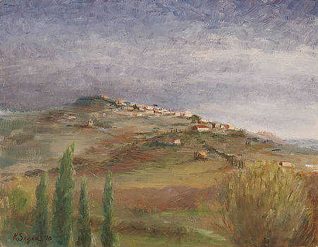 Tuscany View of Cortona by Katherine Seger