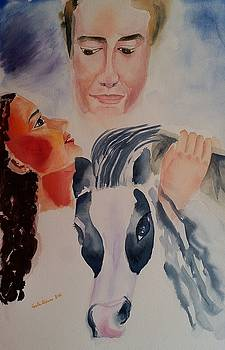 Tween Dreams mixed media Valentines Day special by Geeta Biswas