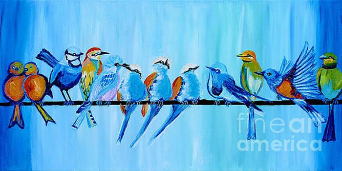 Twelve Birds by Art by Danielle
