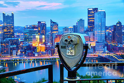 Twenty-Five Cents View of Pittsburgh by George Oze