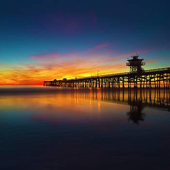 Twilight in San Clemente Pier by Nazeem Sheik