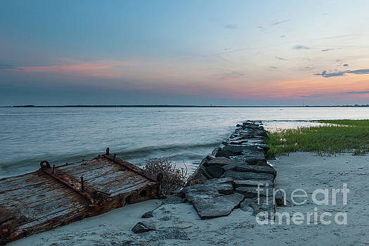 Twilight Beach Sky in Charleston South Carolina by Dale Powell