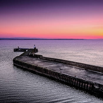 Twilight, Burghead Harbour by Peter OReilly
