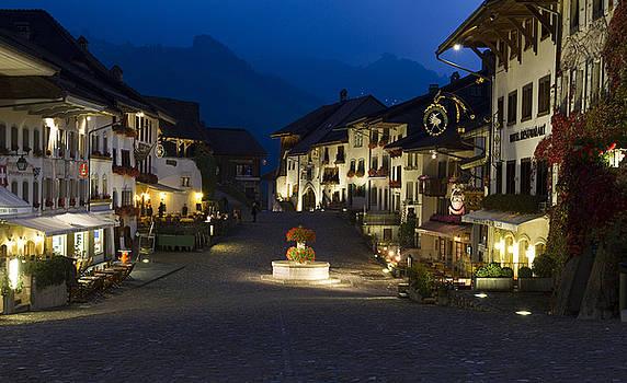 Twilight in the mountain village of Gruyeres by Arabesque Saraswathi