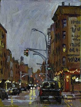 Twilight on 7th and Avenue B Vazac Bar NYC by Thor Wickstrom