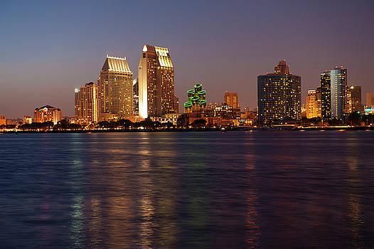 Sandra Bronstein - Twilight on San Diego Harbor