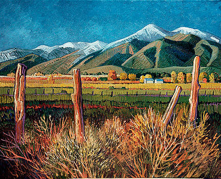 Twilight on Taos Mountain by Donna Clair
