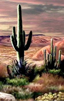 Twilight on the Desert image 3 by Ron Chambers
