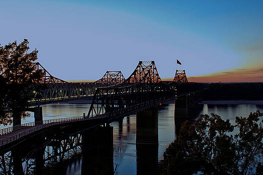 Barry Jones - Twilight on the Mississippi - Vicksburg Bridges