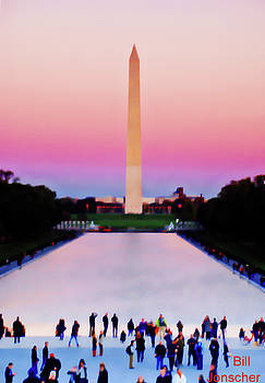 Twilight over the Mall, DC by Bill Jonscher