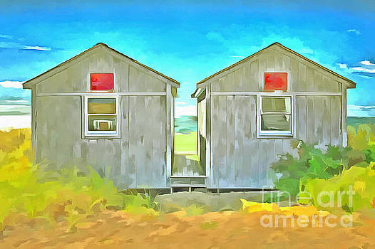 Twin Cottages Craigsville Beach Cape Cod by Edward Fielding