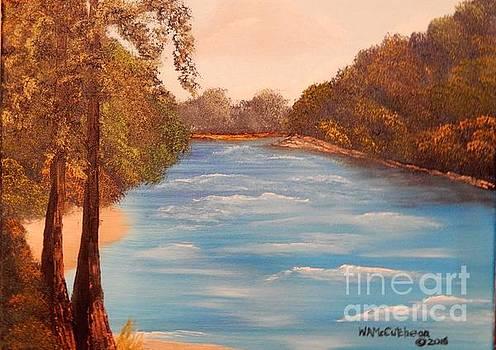 Twin Cypress Along the Suwanee by William McCutcheon
