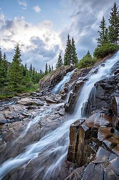Twin Falls At Sundown by Denise Bush