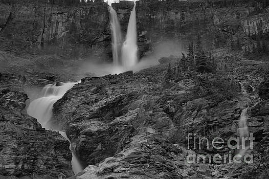 Adam Jewell - Twin Falls Spring Flow Black And White