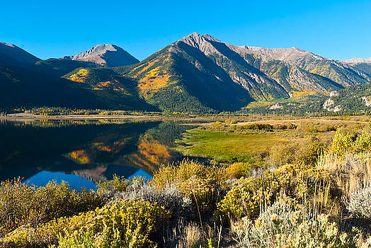 Twin Lakes Autumn Reflection by Cascade Colors