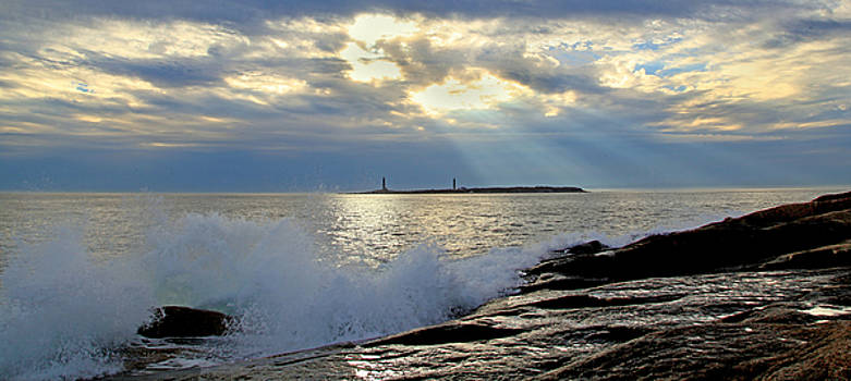 Twin Lights Rockport by Elaine Somers