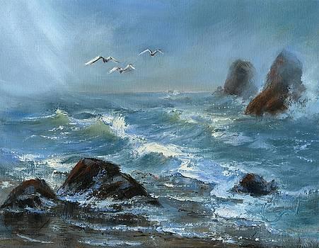 Twin Rocks by Sharon Abbott-Furze
