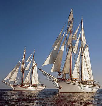 Cliff Wassmann - Twin Tallships at Sea