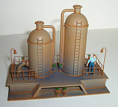 Twin Vertical Storage Tanks by Gary Giacomelli